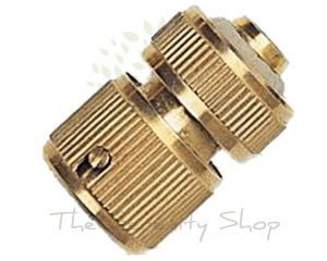 Darlac Garden Hose Solid Brass Water Stop Connector (Hosepipe)