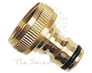 "Darlac Garden Hose Solid Brass 3/4"" BSP Connector (Hosepipe)"