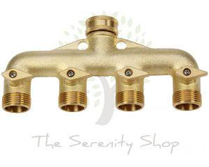 Darlac Hosepipe 4 Way Brass Y Connector Manifold Tap