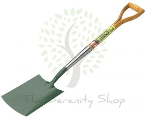 "Bulldog Premier Digging Spade 28"" Ash Shaft with Wooden YD Grip"