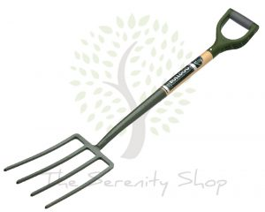 "Bulldog Evergreen Digging Fork Ergo PD Handle 28"" Shaft"