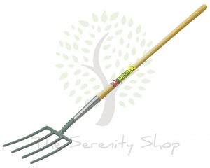 "Bulldog Evergreen Garden Fork 48"" Long Plain Shaft"
