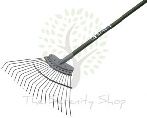 "Bulldog Evergreen Gardening Lawn Rake 48"" Shaft"