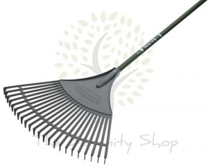 "Bulldog Evergreen Gardening Leaf Rake 54"" Shaft"