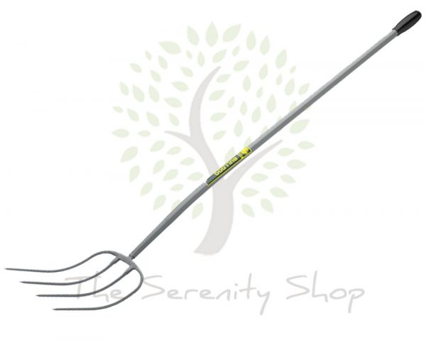 "Bulldog Evergreen Compost Fork Tubular Steel 48 "" Straight Shaft"